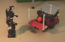 Cooperation of humanoid and wheeled robot